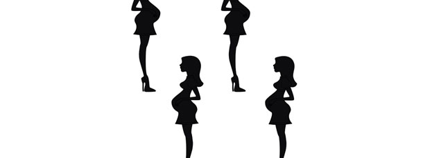 610x229 Pregnant Woman Silhouette Cut Out Small