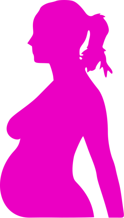 400x702 Silhouette Of Pregnant Woman Clipart