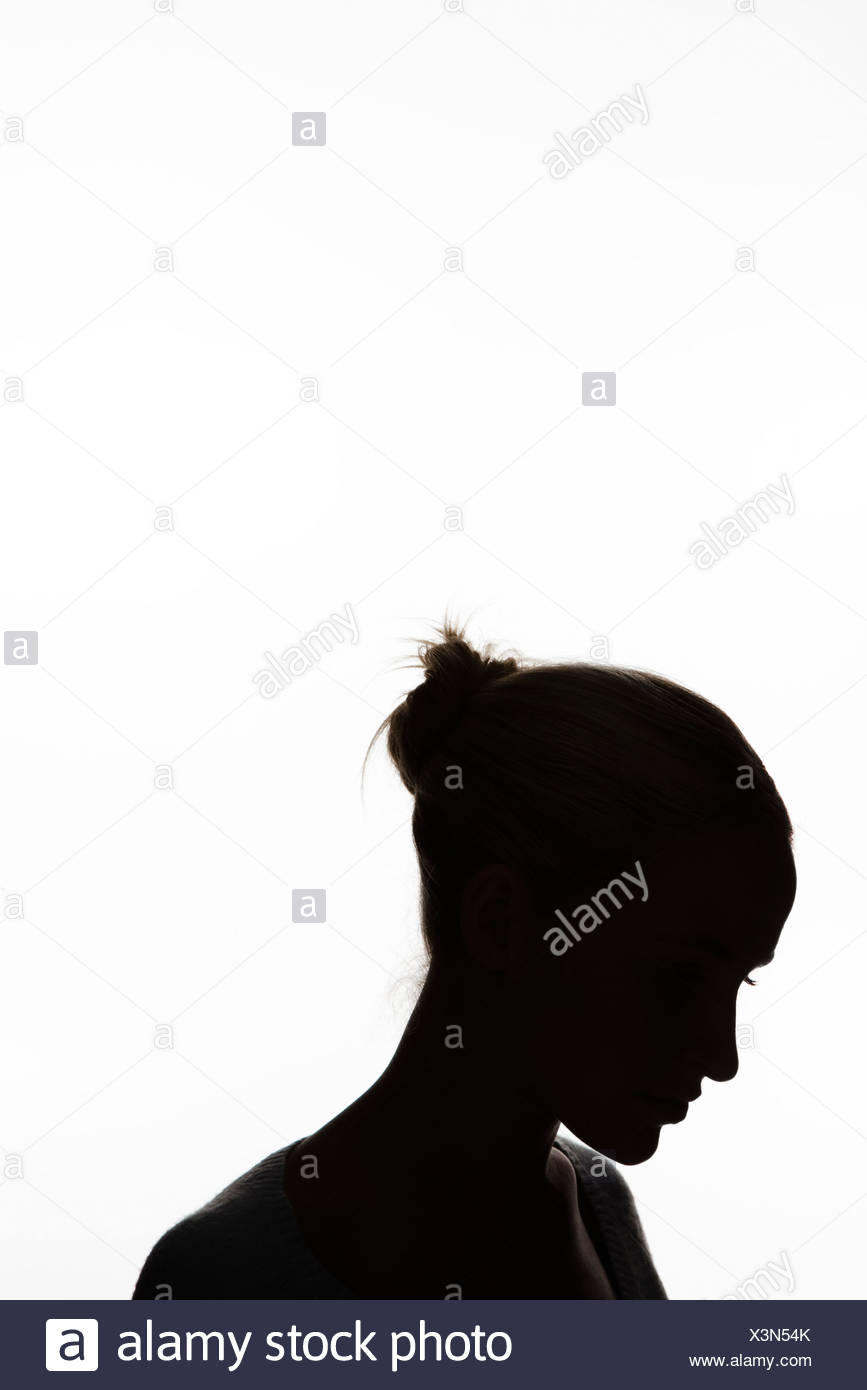 867x1390 Woman Hair Bun Silhouette Stock Photos Amp Woman Hair Bun Silhouette