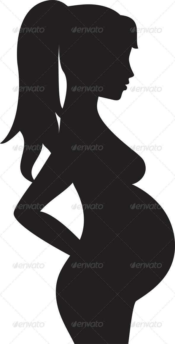 590x1157 Pregnant Silhouette Girl Clipart