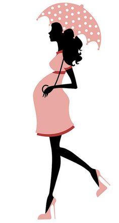Pregnant Woman Silhouette Vector