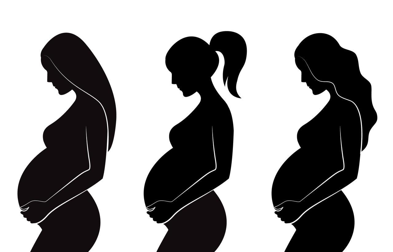 Pregnant Women Silhouette