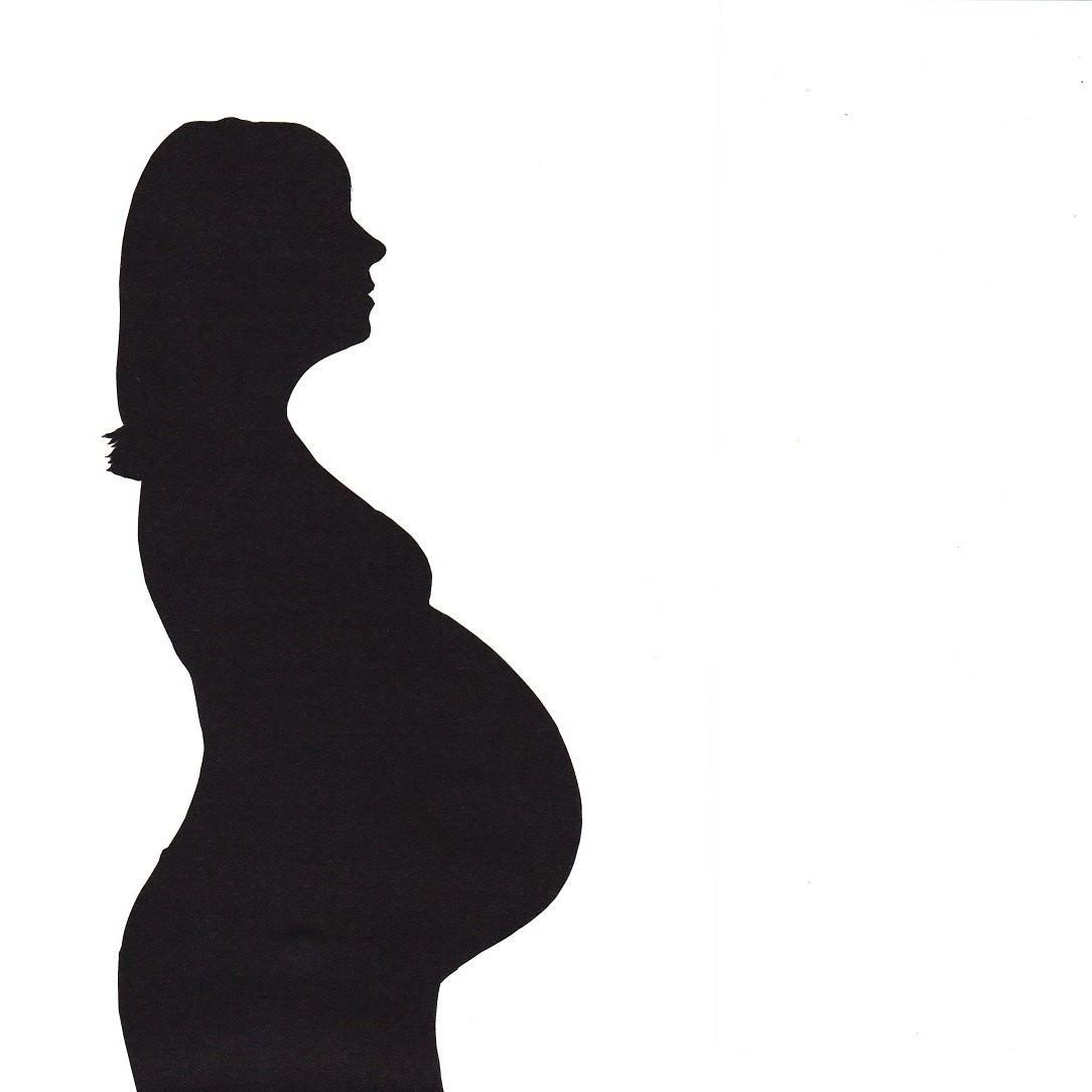 1084x1084 Pregnant Woman Silhouette Clip Art