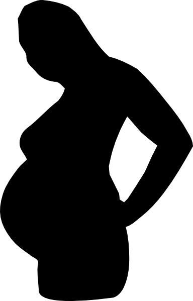 384x599 Pregnant Woman Silhouette Clip Art