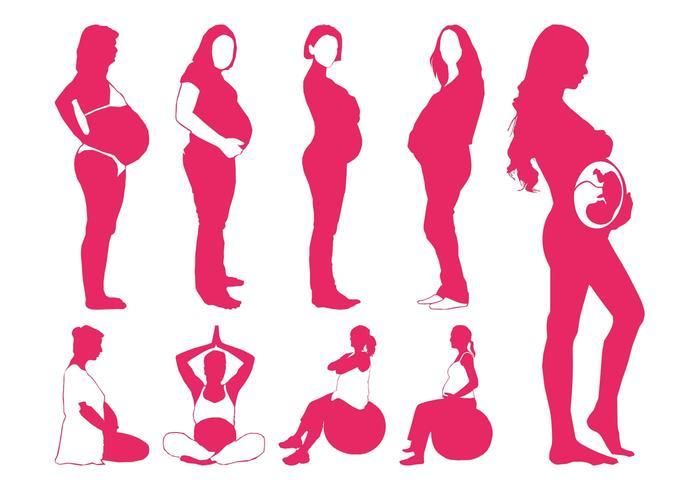 700x490 Pregnant Women Silhouettes