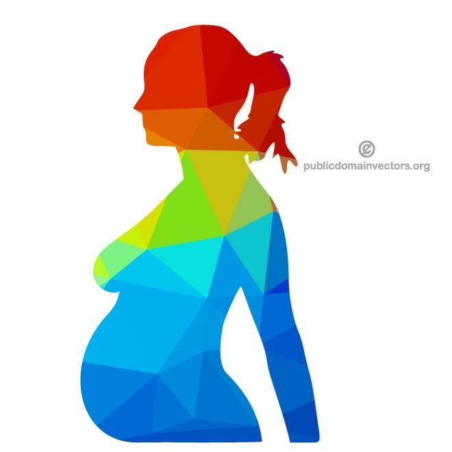 660x660 Pregnant Woman Silhouette Vector