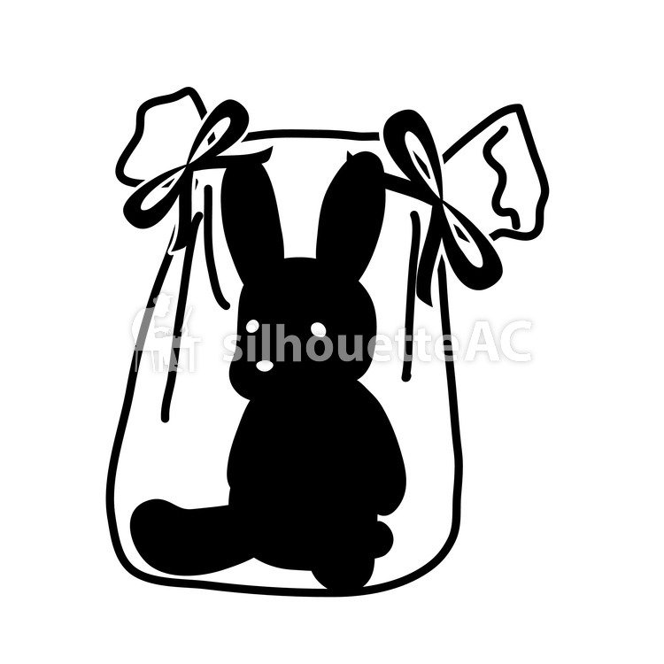 750x750 Free Silhouette Vector Gift, Present, Ribbon
