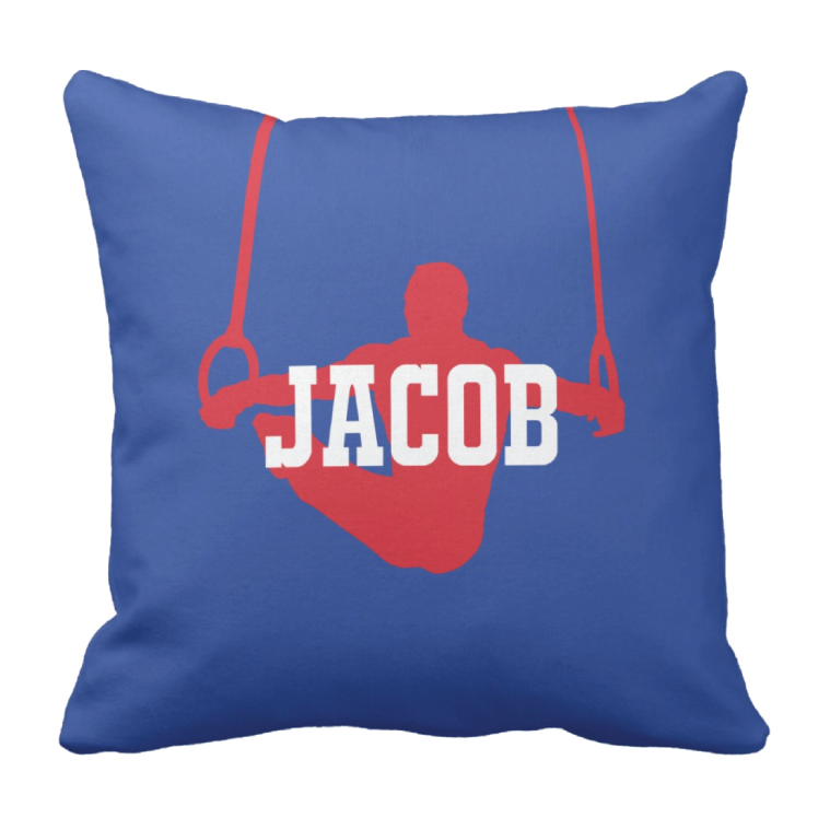 759x759 Personalized Gymnastics Silhouette Throw Pillow Wname Shop