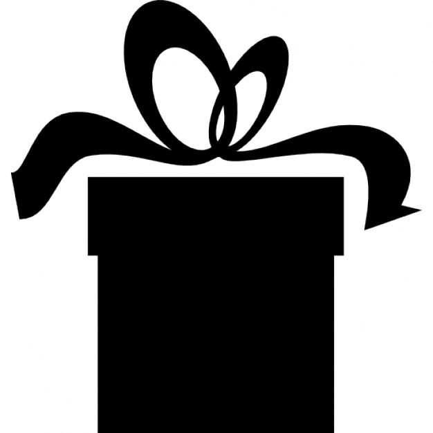 626x626 Present Box Black Silhouette Icons Free Download