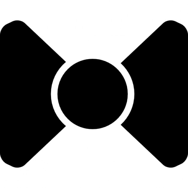 626x626 Bow Black Silhouette Icons Free Download
