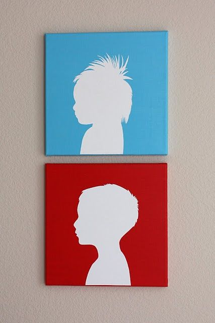 427x640 Cute Silhouette Painting
