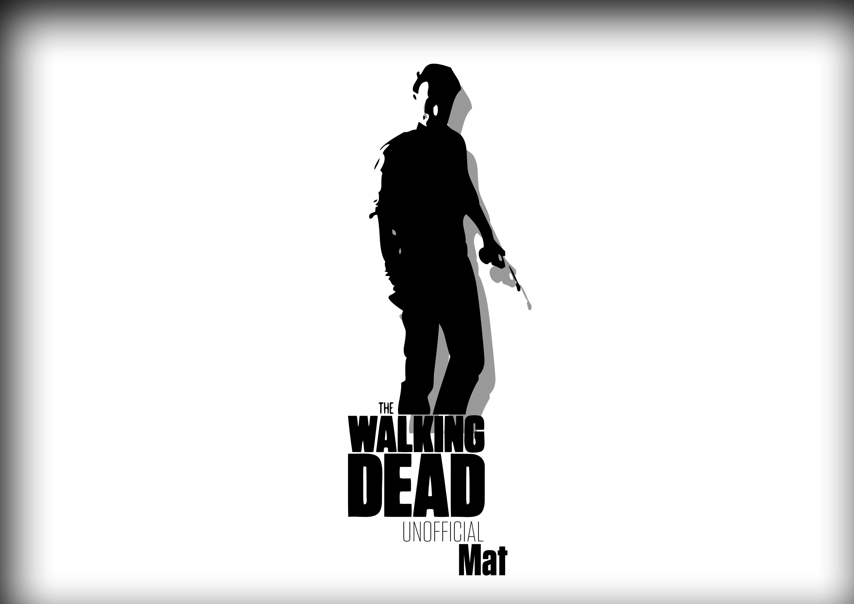 3508x2480 Wallpaper Illustration, Silhouette, Text, The Walking Dead