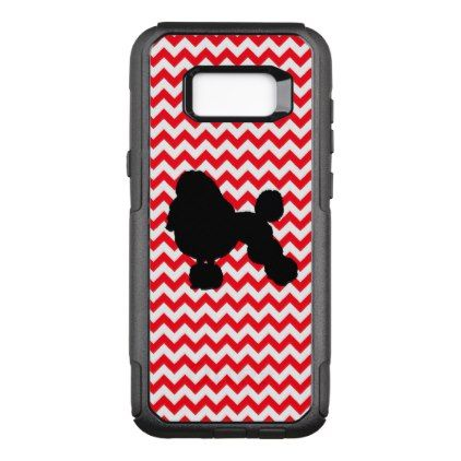 422x422 Fire Truck Red Chevron With Poodle Silhouette Otterbox Commuter