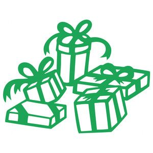300x300 Pile Of Presents Silhouette Design, Silhouettes And Store