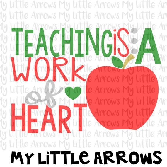 570x570 Teacher Gift Svg Teaching Is A Work Of Heart By Mylittlearrows