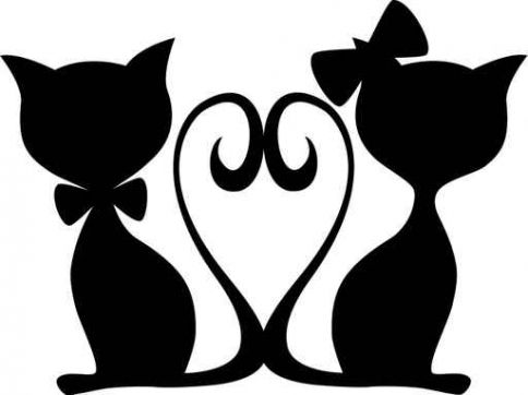 484x362 Love Cats Patterns Cat, Silhouettes And Cricut