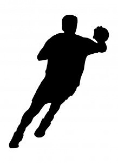 454x626 Silhouette Of Handball Player Ideas For Presents