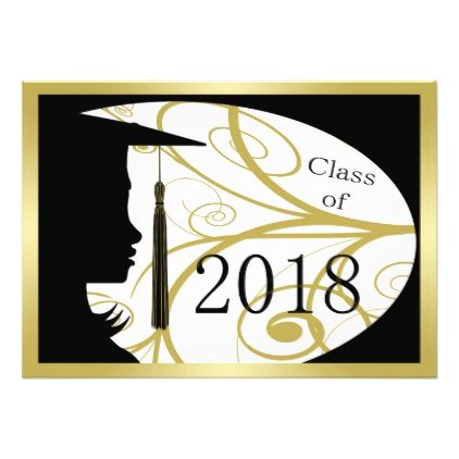 422x422 Black And Gold Silhouette 2018 Card