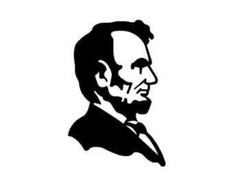 340x270 Abe Lincoln Decal Etsy