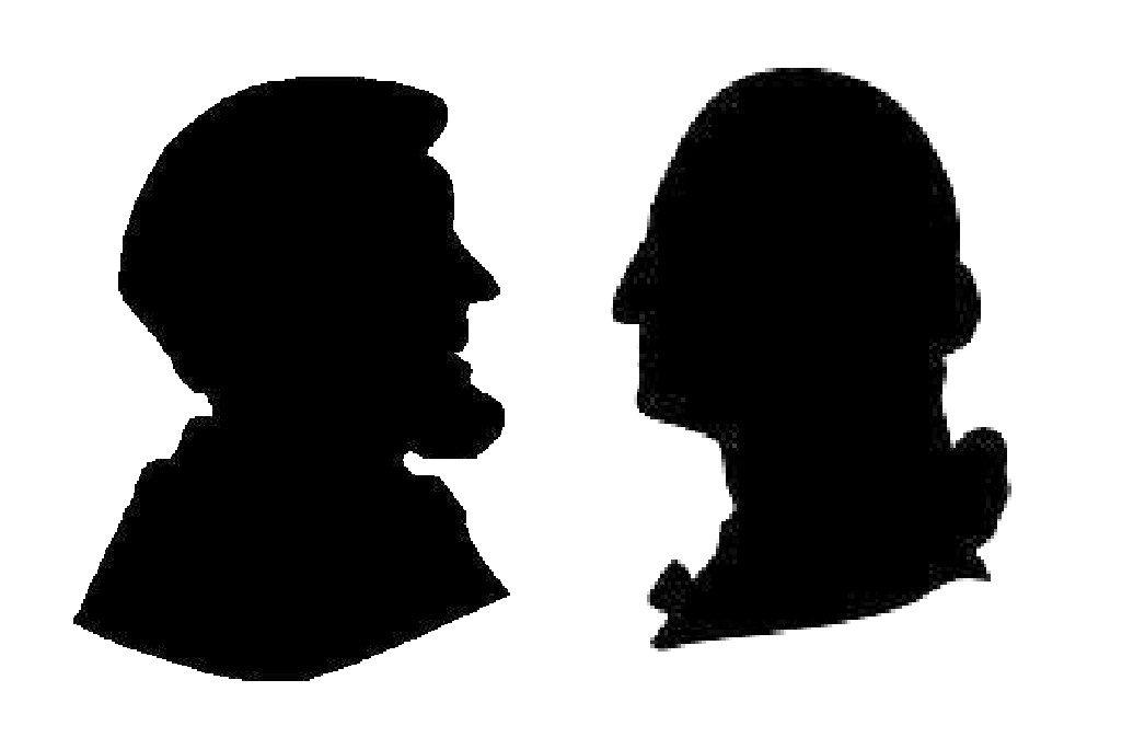 1046x684 Lincoln Amp Washington Silhouettes Teach Me