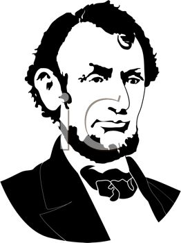 262x350 Royalty Free Clip Art Image Silhouette Of Abraham Lincoln