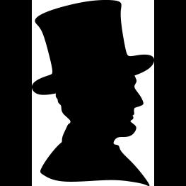 263x262 Abraham Lincoln Silhouette