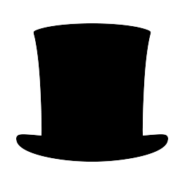 263x262 Abraham Lincoln Hat Silhouette Father's Day Decor