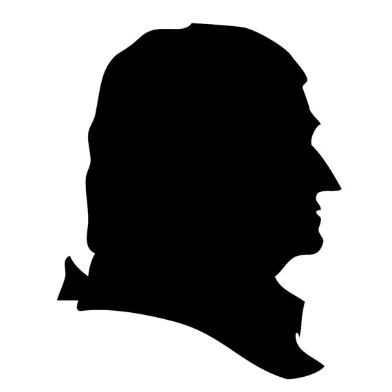 570x570 President Silhouette Reusable Laser Cut Stencil Washington, Adams