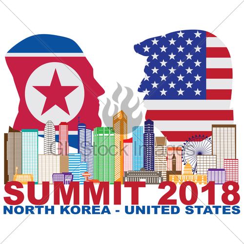 500x500 President Trump Kim Jong Un Singapore Summit 2018 Silhouette Gl