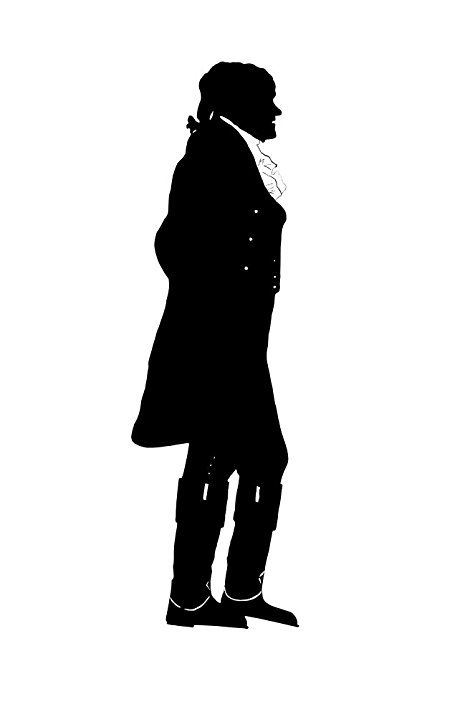 475x717 Silhouette Of President Thomas Jefferson Poster Print