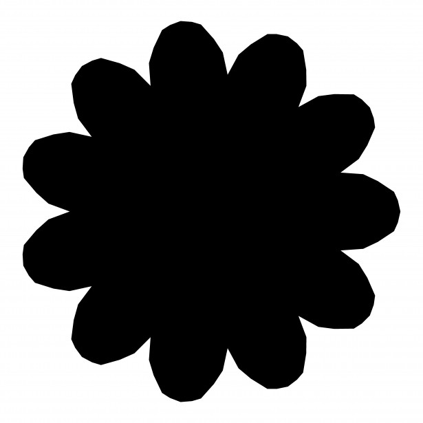 615x615 11 Petal Flower Silhouette Free Stock Photo