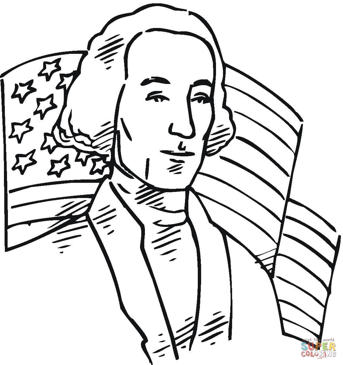 1129x1200 George Washington First President Of The Usa Coloring Page Free