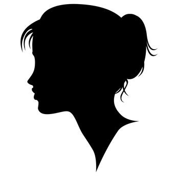 346x346 Profile Clipart Pretty Lady