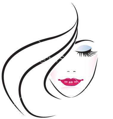 380x400 Face Of Pretty Woman Silhouette Vector 1054648