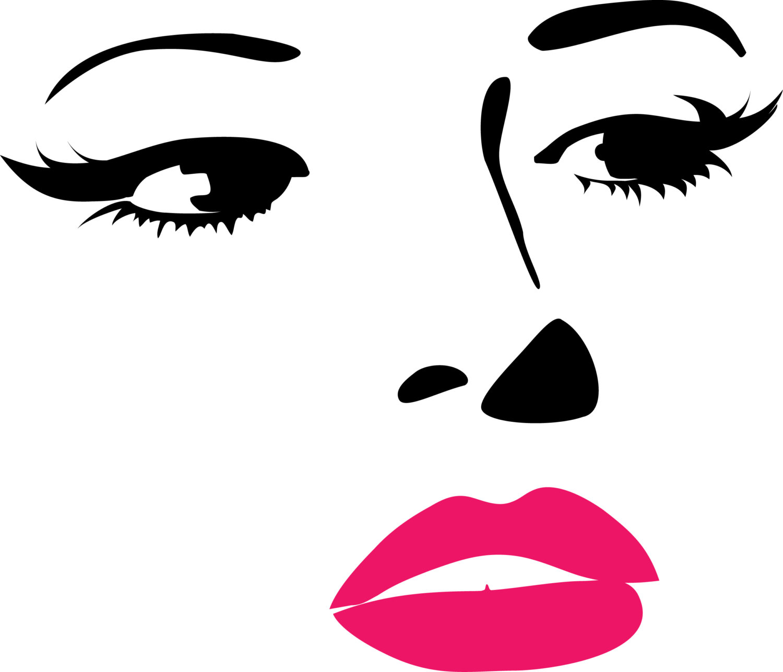 1500x1287 Pretty Girl Face Clipart