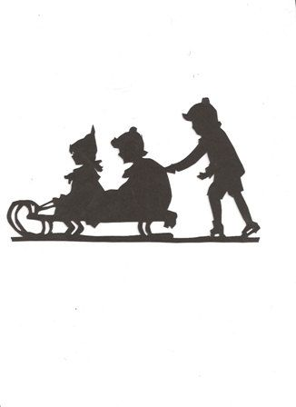 326x448 Children Sledding Silhouette 12 Price After By Hilemanhouse