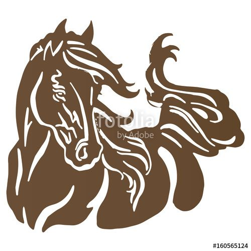 500x500 Download The Royalty Free Photo Silhouette Horse Dark Brown