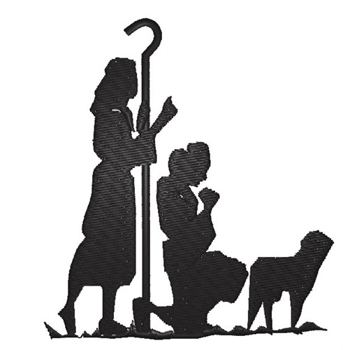 491x500 Nativity Silhouette Embroidery Design Annthegran