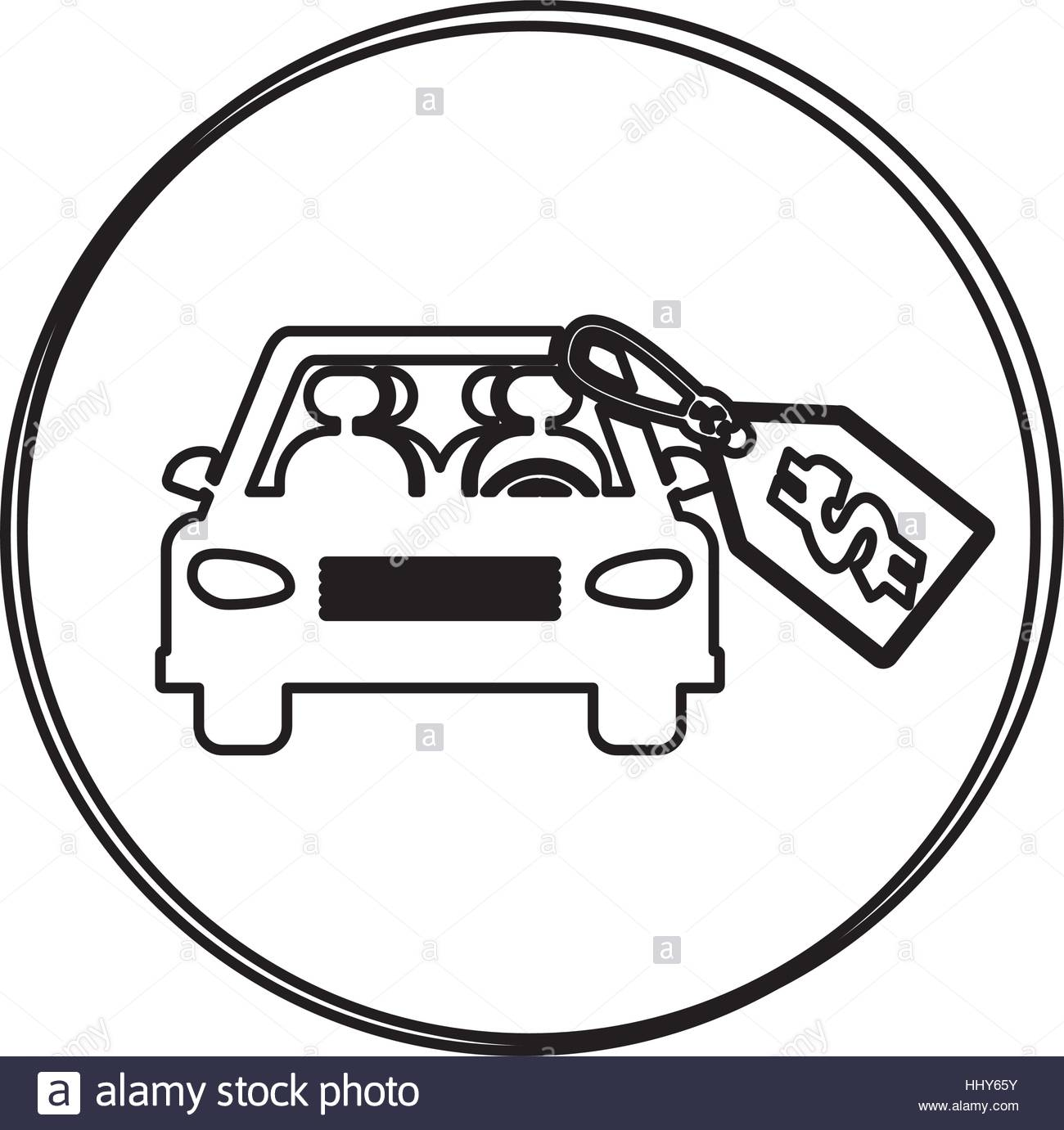 1300x1381 Silhouette Circular Shape With Car And Price Tag Dollar Vector