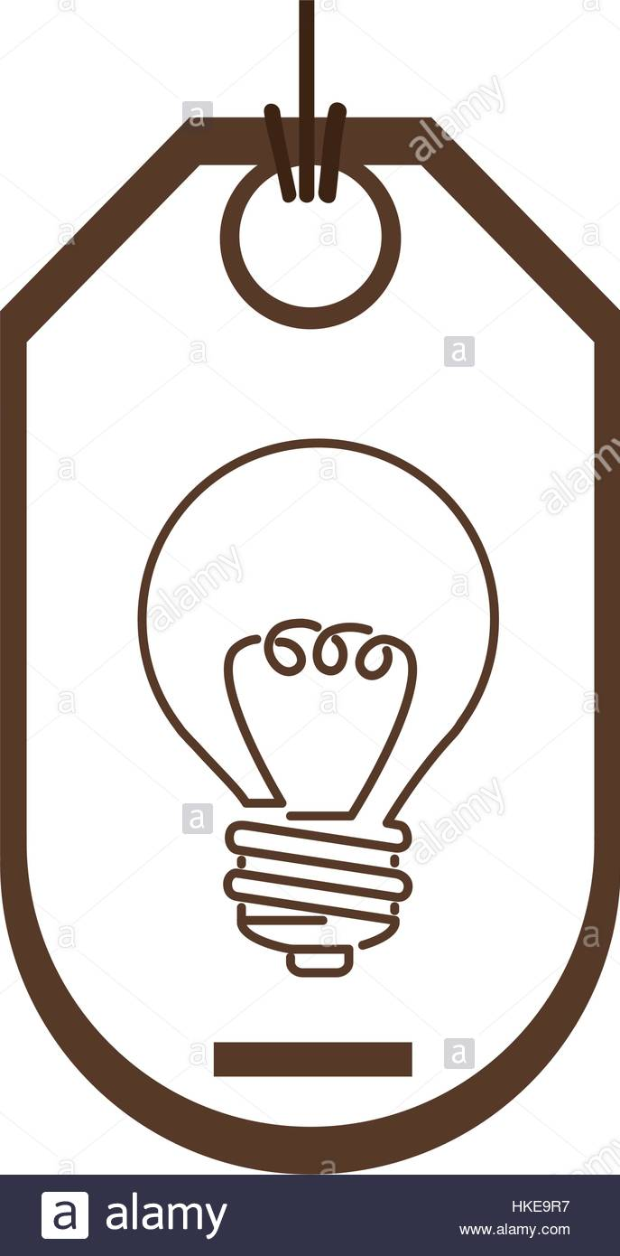 687x1390 Silhouette Price Tag Of Light Bulb With Resistance Stock Vector