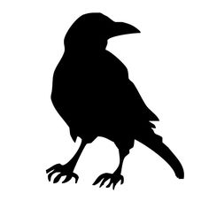 236x236 Primitive Crows Stencil With 9 Crows Total 3 Different Crows3
