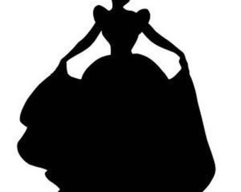 340x270 Items Similar To Cinderella And Prince Charming Silhouette Vinyl