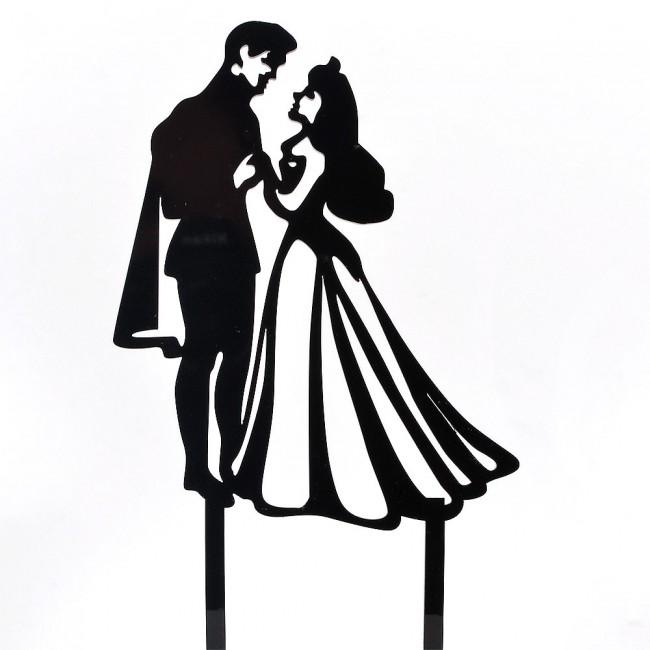 650x650 Mr Amp Mrs Prince Amp Princess Acrylic Wedding Day Cake Topper