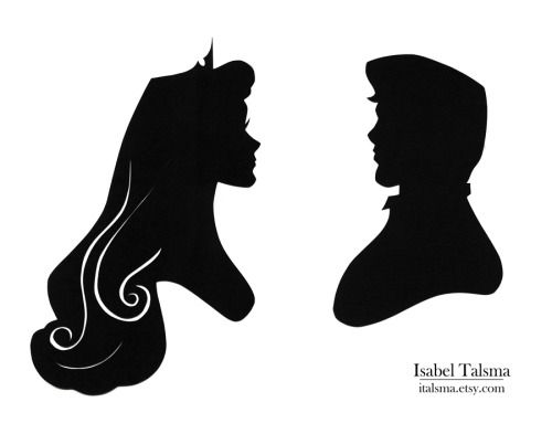 500x393 Once Upon A Dream Handcut Paper Silhouettes Of Princess Aurora