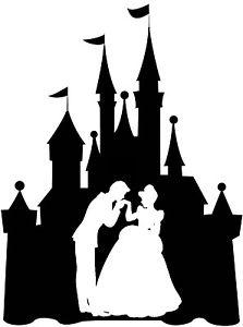 223x300 Custom Vinyl Decal Run Castle Cinderella Prince Charming Dance