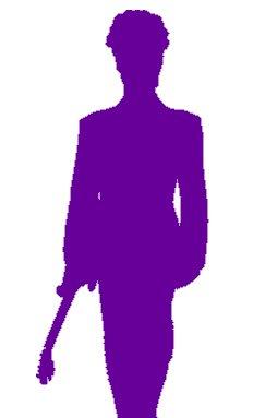 232x383 Prince The Artist Icon Silhouette 6 Purple Vinyl Car