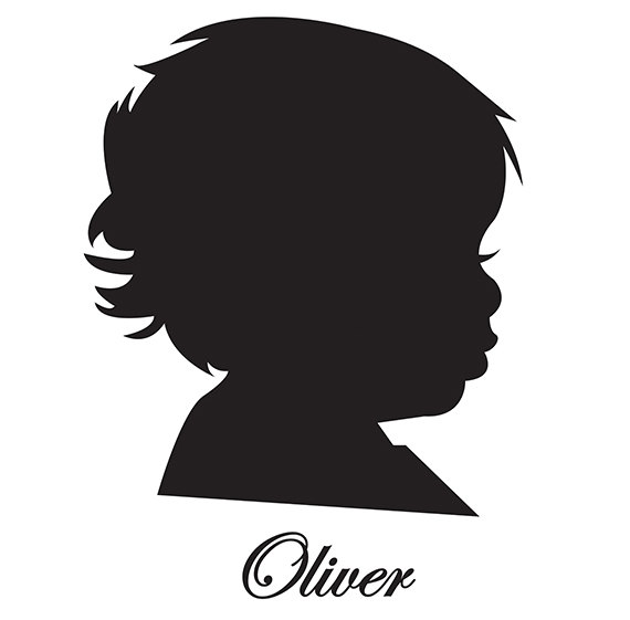 570x561 Baby Prince Silhouette