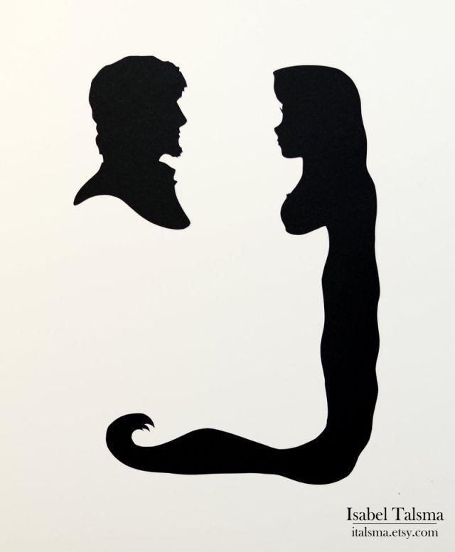 640x777 Disney Princess Silhouettes Flynn And Rapunzel Dream Disney