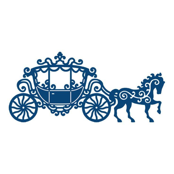 736x736 Princess Horse Carriage Clipart