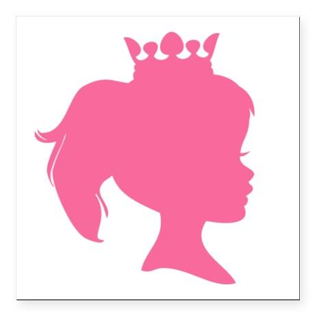 460x460 Princess Silhouette Clip Art
